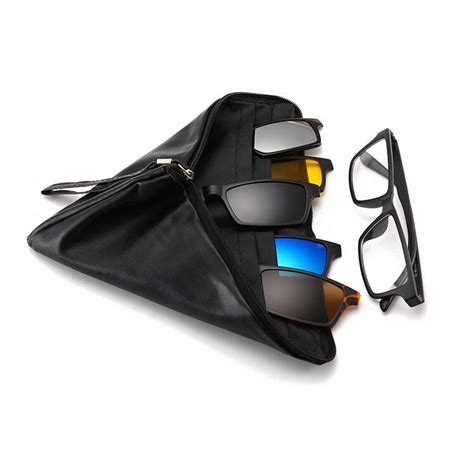 Mens And Women Night Vision Driving Sun Glasses 5 In 1
