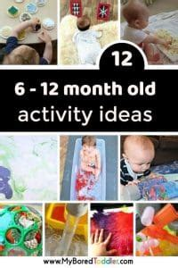 6 - 12 month old activity ideas for baby play at home