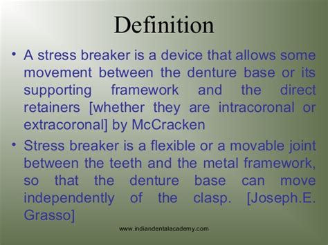 Stress breakers /prosthodontic courses/ oral surgery courses