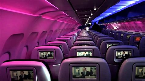 Virgin Airlines interior - YouTube