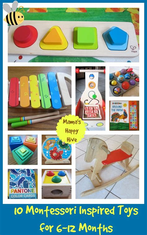 Montessori Inspired Toys - 6 to 12 Months - Mama's Happy Hive