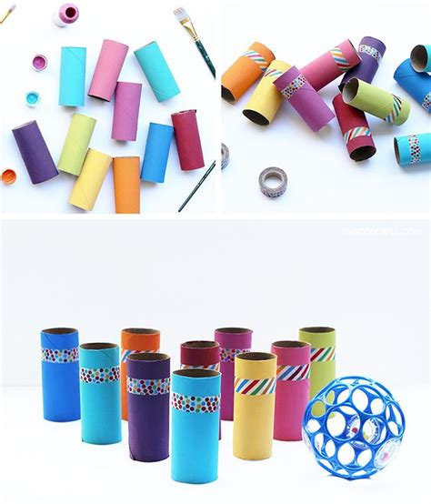 DIY: Toilet Paper Roll Bowling Game — Live Colorful